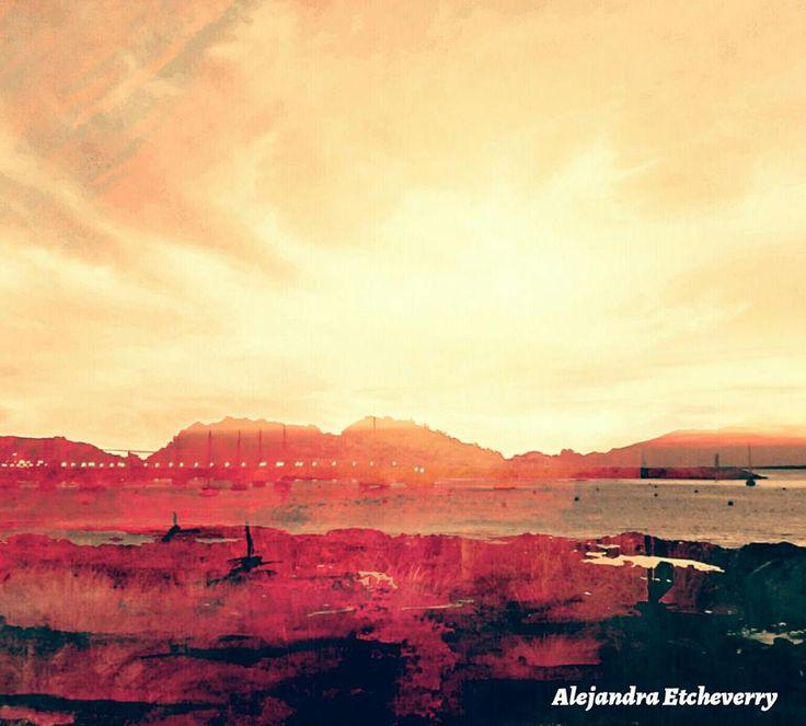 Atardeciendo - Fotografía intervenida - San Luis, Argentina - Autora: Alejandra Etcheverry