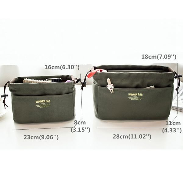 Women Portable Canvas Storage Bag Travel Cosmetic Bag Girls Toiletry Kit