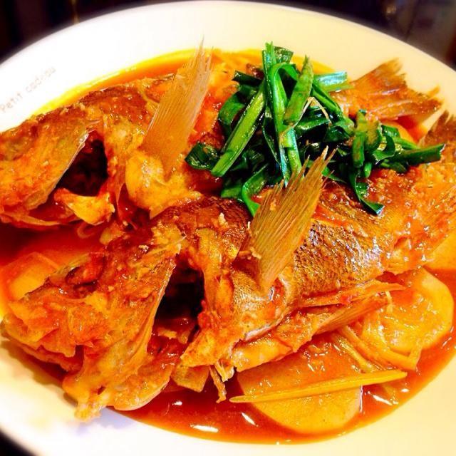 釣魚料理((*´∀`*)) - 31件のもぐもぐ - 沖メバルの韓国風煮付け by のり