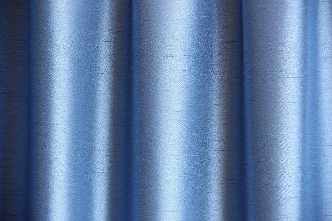 Ada 18 kék szatén Drapéria függöny - Abrosz, Terítő, Függöny webáruház