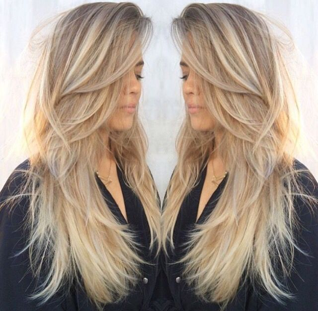 Incredible 1000 Ideas About Long Blonde Haircuts On Pinterest Blonde Short Hairstyles Gunalazisus