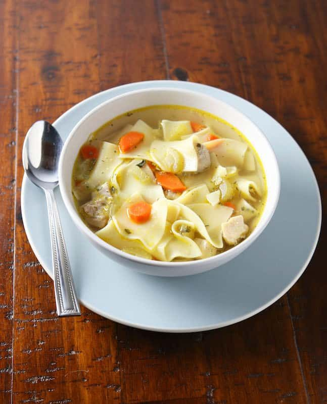 pressure cooker chicken noodle soup  cook fast eat well
