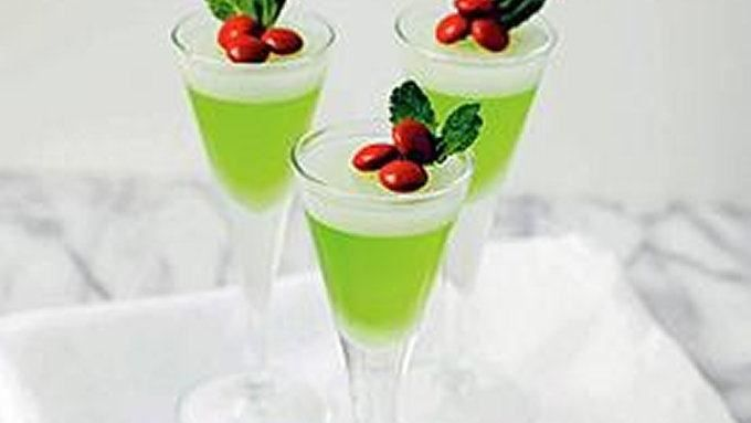 Pucker up and bottoms up with these festive holiday jelly shots.