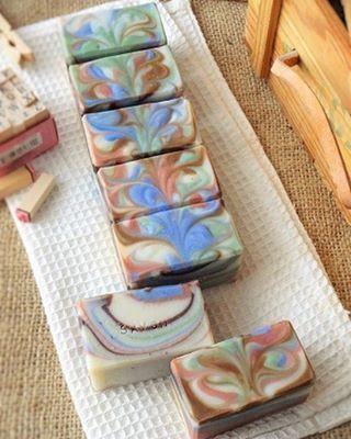 手作り石鹸を作ってみたい!マーブル模様の石鹸がとっても可愛い♡