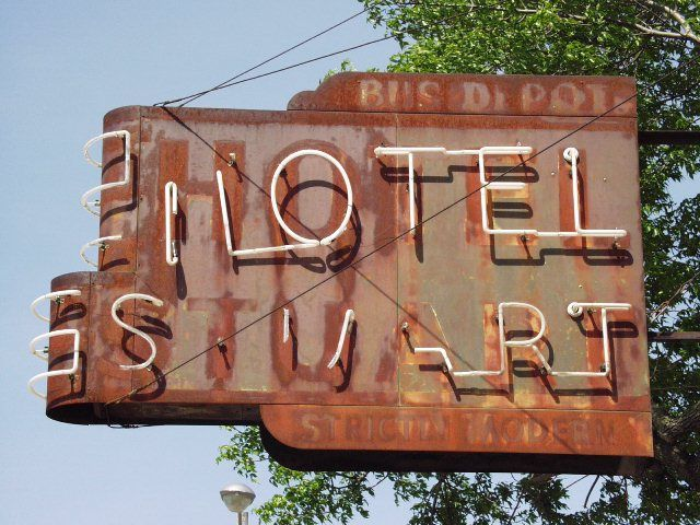 Ghost Sign For Hotel Stuart Iowa
