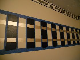 How to paint train tracks in a nursery