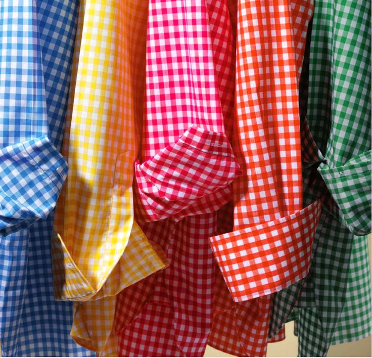 This is pretty much my wardrobe. Gingham shirt and skirts or jeans... Gingham Gal strikes again!