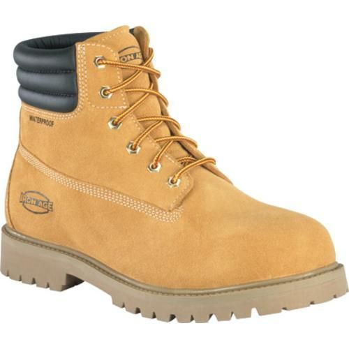 Men's Iron Age Steadfast 6in Waterproof Insulated Work Boot Wheat