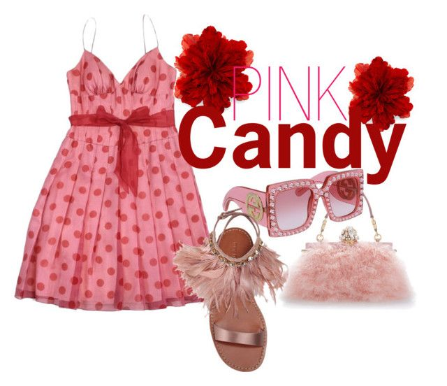 Pink Candy by illetilmote on Polyvore featuring Kay Unger New York, Miu Miu, Dolce&Gabbana and Gucci