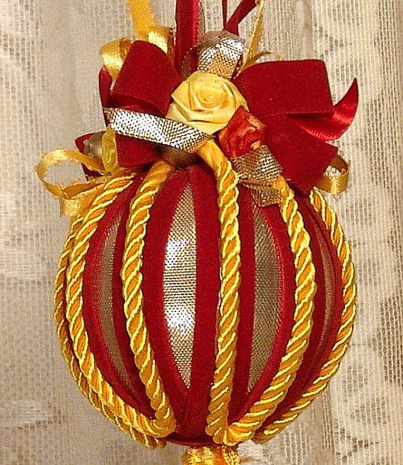 Ornamento di Natale vittoriano decorati a mano / Keepsake - Vintage Style-n. 17