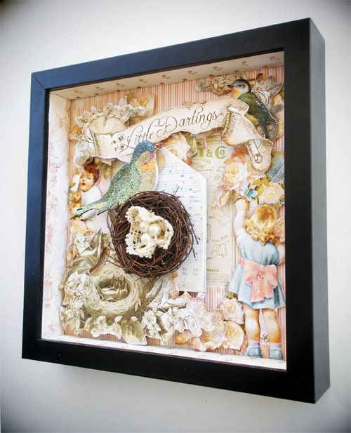 using the new Little Darlings line- now in stockCrafts Ideas, Graphic45, Graphics 45, Shadows Boxes, Altered Art, Darling Shadowbox 1, 45 Inspiration, Paper Crafts, 45 Paper