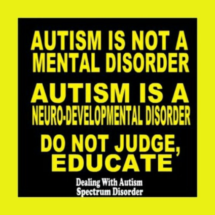 an understanding of the mental disorder autism Co-occurring mental health conditions  o improved understanding of biological  the comorbidity of adhd and autism spectrum disorder,.