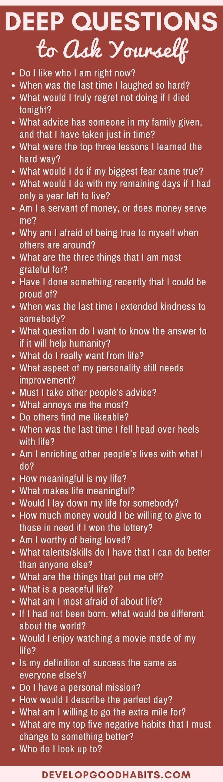 Die Beantwortung tiefer Fragen bietet den Vorteil, dass Sie s