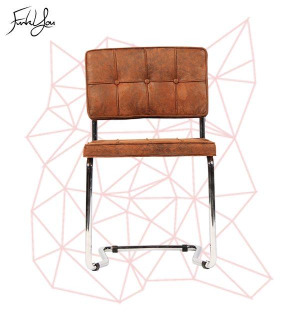 Freeform Cantilever Chair - Brown Microsuede. www.funkyou.com.au