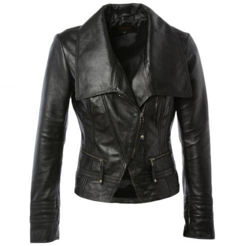 Ladies BRAMPTON Adele Black Leather Jacket
