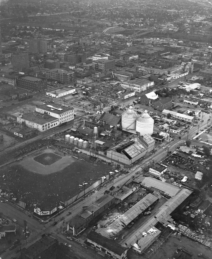 1953 Waco, Texas tornado damage from UTA Library Digital