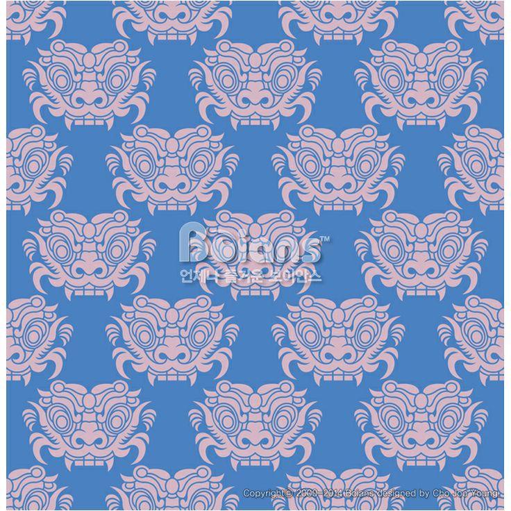 한국의 도깨비 문양 패턴디자인. 한국 전통문양 패턴디자인 시리즈. (BPTD020193) Korea Goblin pattern Design. Korean traditional Pattern is a Pattern Design Series. Copyrightⓒ2000-2014 Boians.com designed by Cho Joo Young.