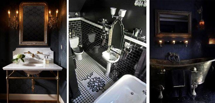 Baños en estilo gótico - http://www.decoora.com/banos-en-estilo-gotico.html