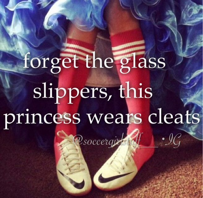 this princess wears cleats soccer - Google Search