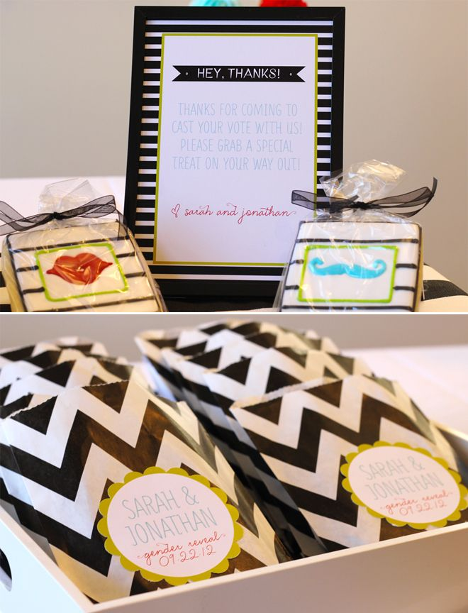 For Baby #2 Gender Party  Thanks in a frame and grab a hershey bar ;)