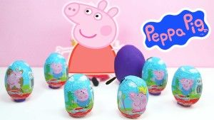 Peppa pig Kinder surprise eggs unboxing