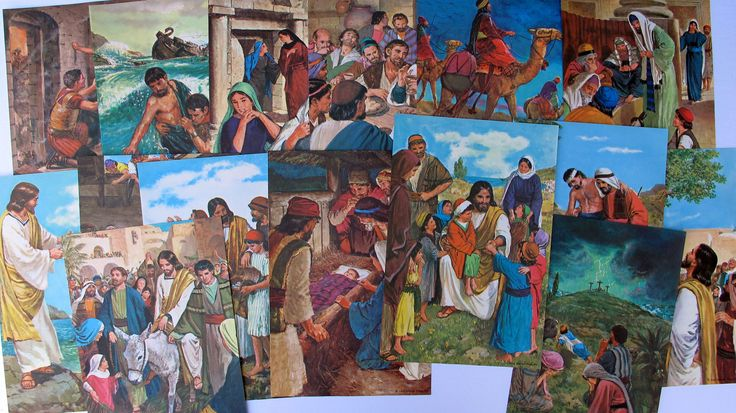 Bible story gallery wall art, vintage Jesus gallery wall art, vintage religious wall art prints by BurkeSevenVintage on Etsy https://www.etsy.com/ca/listing/554852297/bible-story-gallery-wall-art-vintage