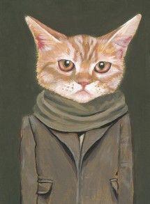 someone has an attitude    http://www.heathermattoon.com/catsinclothes/