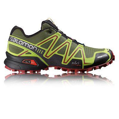 buy online 56878 3812d ... Salomon speedcross 3 cs mens green black trail running sports shoes  trainers, ...