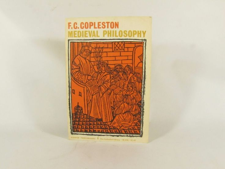Medieval Philosophy By F.C. Copleston  1961 Harper Torchbook (Cathedral Library)