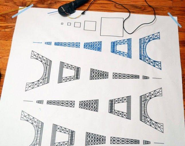 3doodler eiffelturm zeichnung 3d druck eiffelturm. Black Bedroom Furniture Sets. Home Design Ideas