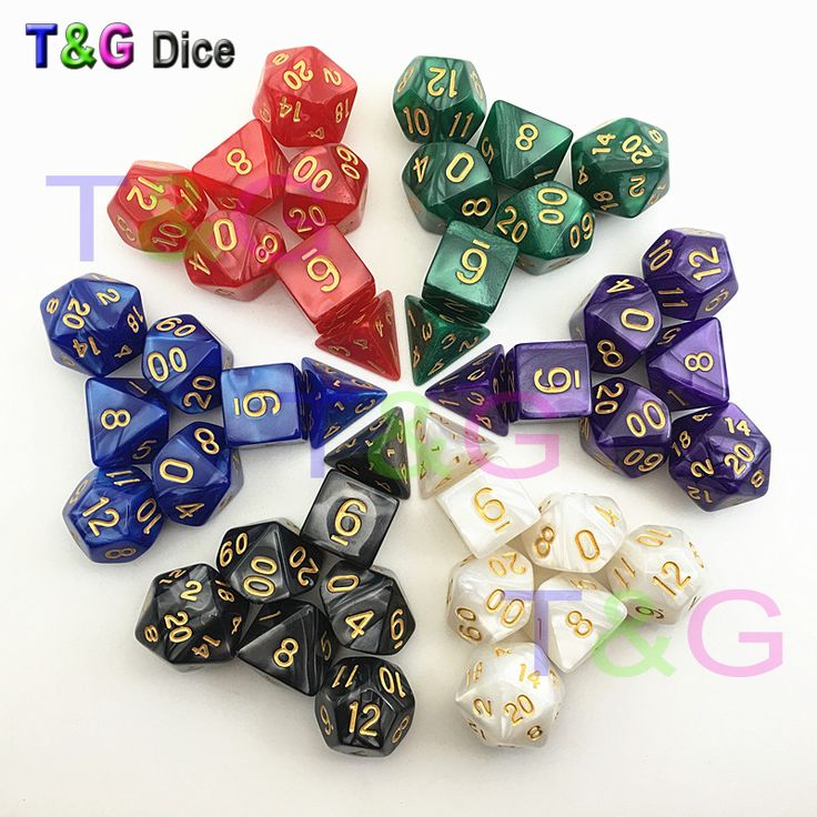 Dungeons Dragons Marble Effect Polyhedral Dice // Price: $9.95 & FREE Shipping //    #boardgame #cardgame #game #puzzle #maze