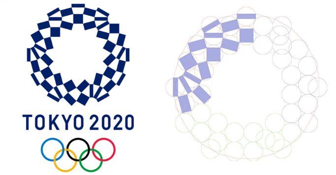 東京オリンピックの新エンブレム、実はかなり図学の技術が練り込まれている作品で、専門家たちが解明と解説を始めています。その緻密さに驚く人が多数!ここまで計算されていたとは…。一見しただけではわからない奥