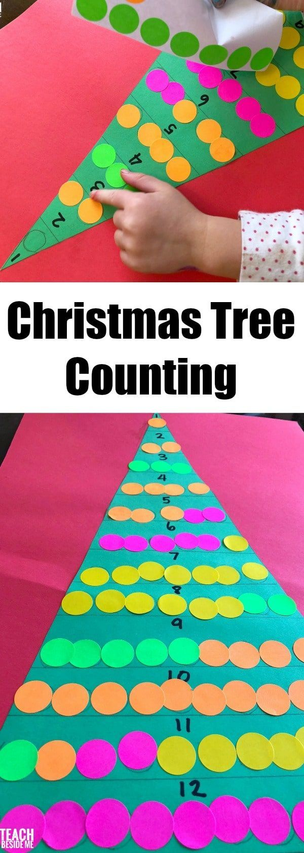 Christmas tree counting for preschool