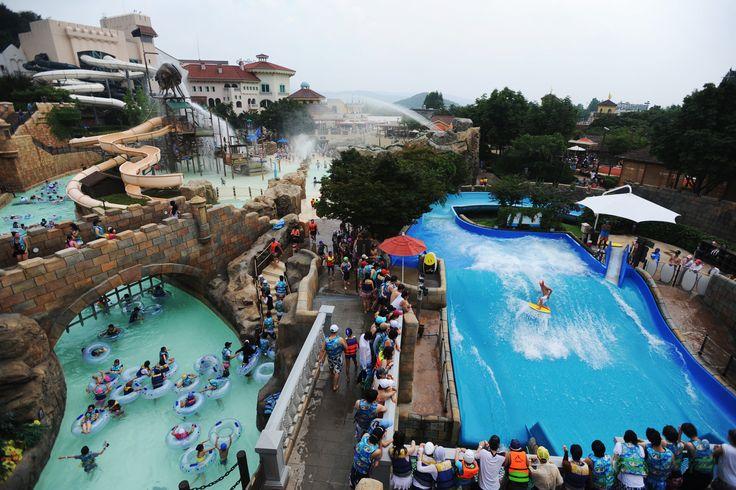 워터파크 캐리비안 베이 (Water Park 'Caribbean Bay' in Korea)