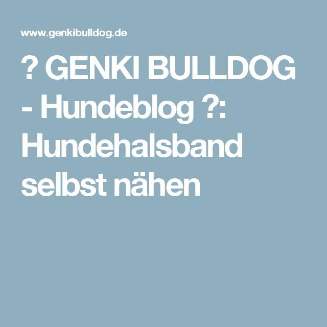 ♡ GENKI BULLDOG - Hundeblog ♡: Hundehalsband selbst nähen