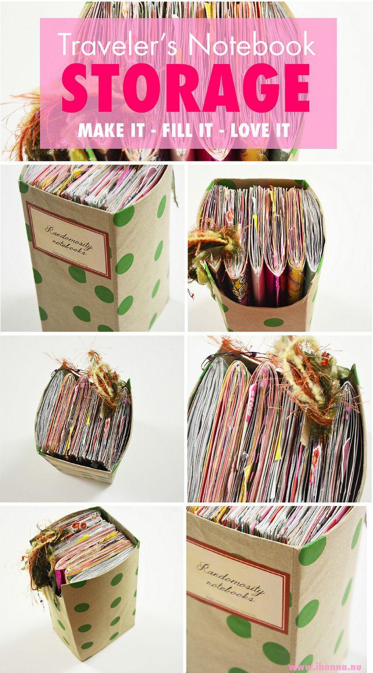 Travelers Notebook Storage blogged by iHanna - make your own storage #travelersnotebook #journaling #notebooks