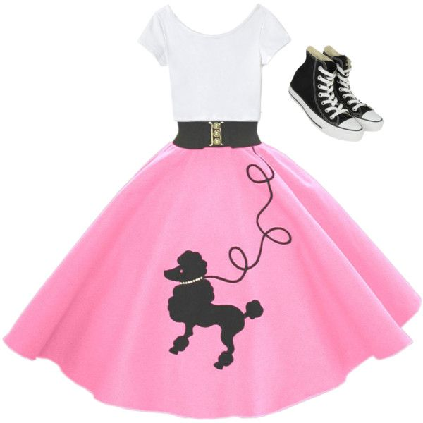 Common 50s outfit for a teen girl.