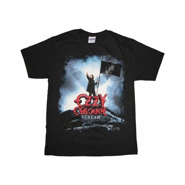 Ozzy Osbourne Scream T Shirt ($9.94) ❤ liked on Polyvore featuring tops and t-shirts