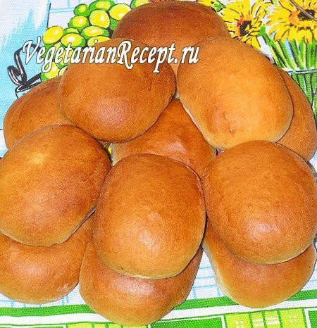Постные дрожжевые пирожки с капустой