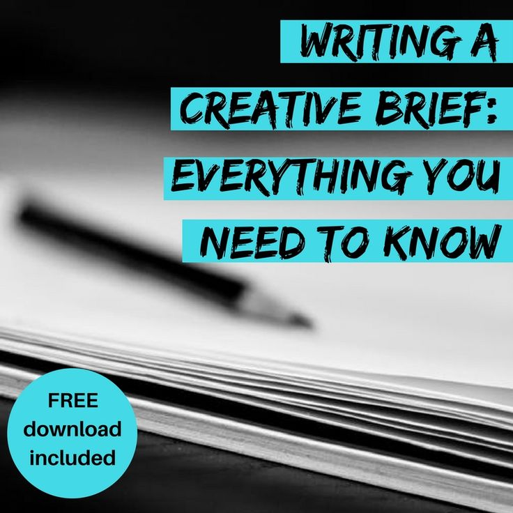Learn how to write the perfect #creativebrief with my free downloadable template (I give it to all my clients).
