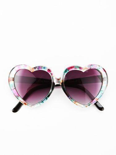 12302b260a7 Printed Heart Sunglasses  womensfashionfalloutlets
