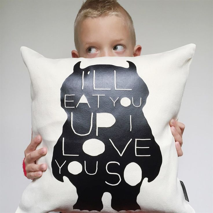 $14.99 | I'll Eat You Up I Love you So | Where the Wild Things Are Pillow Cover | Jane