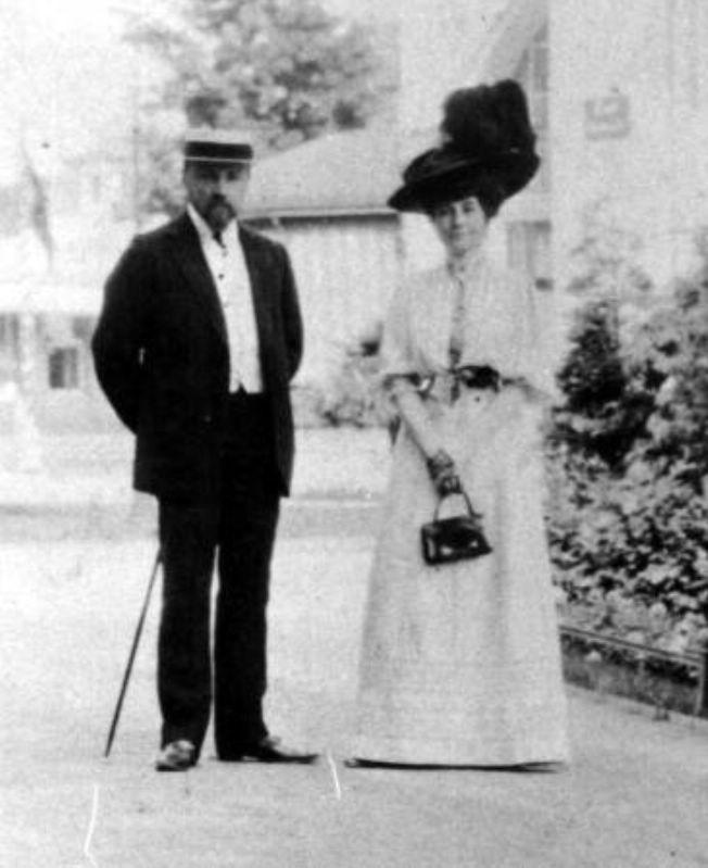 Николай Рерих с женой Еленой.1908г.