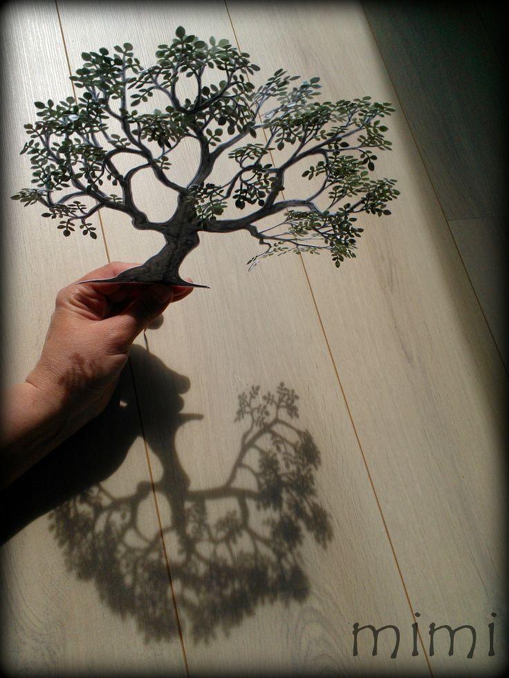 drzewo, liście i ... cień :)
