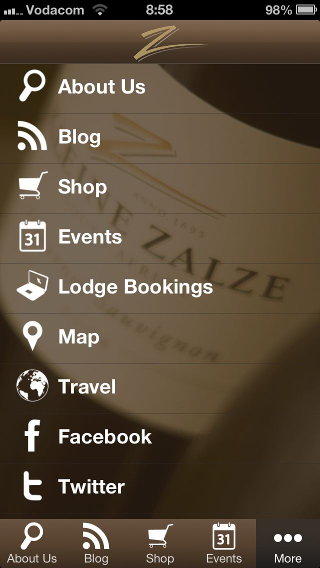Get the Kleine Zalze App, available on Apple and Android Google Play stores