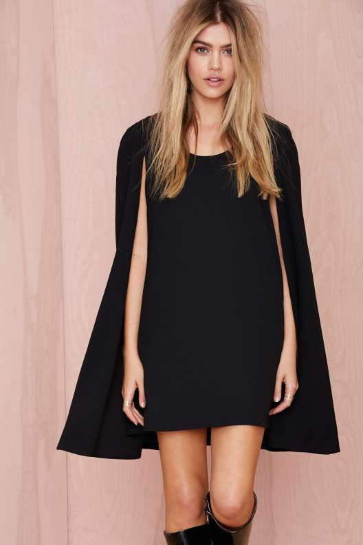 Nasty Gal Catherine Cape Dress - Clothes