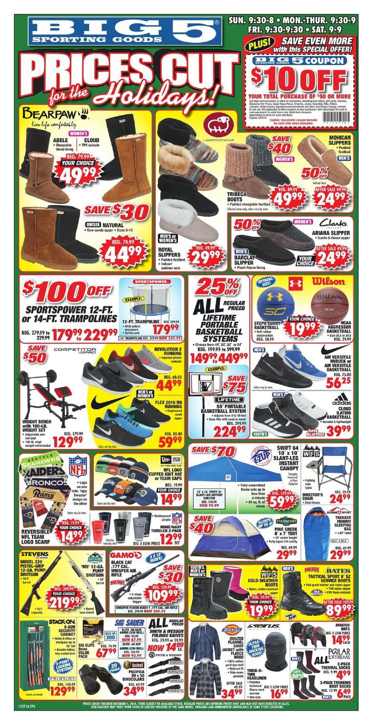 Big 5 Ad October November 27 - December 4, 2016 - http://www.olcatalog.com/sports-toys/big-5-weekly-ad.html