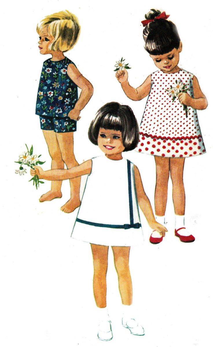 60s Vintage Girls Pattern McCalls 7783 Dress or Top and Shorts