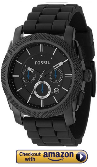 I LOVE FOSSIL - I just got this watch for my Bday. Except it had red accents not blue. LOVE IT!!!Fossil Fs4487 Black Silicone Watch
