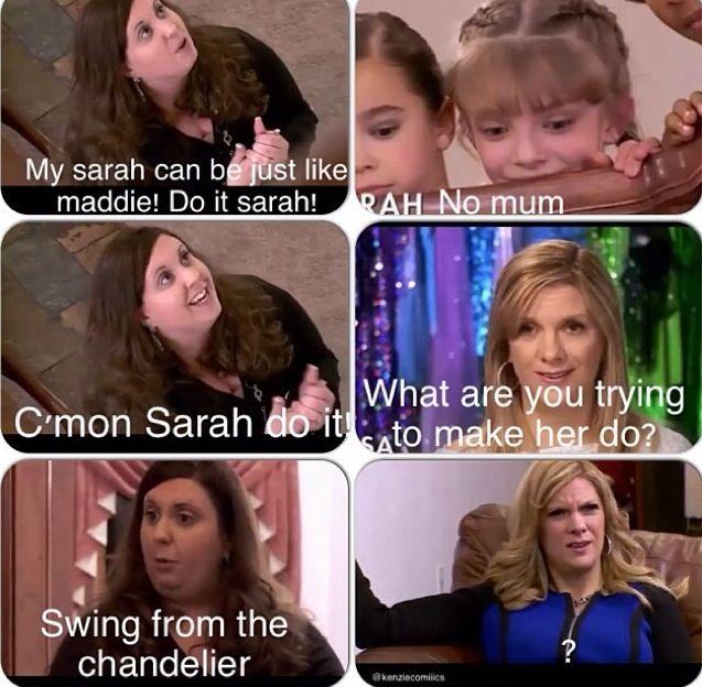 dance moms, Sarah's mom Christy is insane!